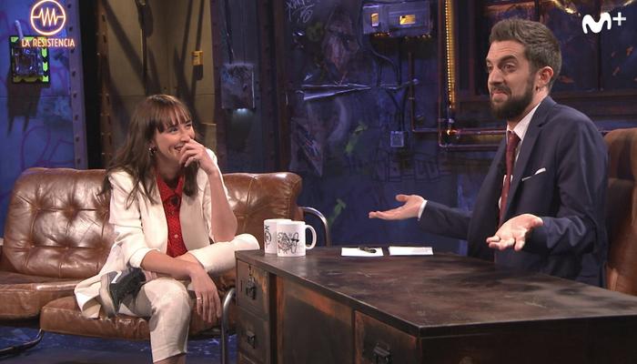 Ingrid García Jonsson y David Broncano en 'La resistencia' (#0) de Movistar+